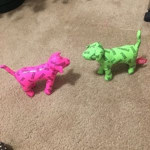 PINK dogs.